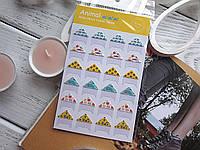 Уголки для фото, самоклеющиеся, Animal, 1 лист (24 шт)