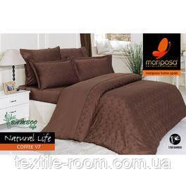 Mariposa Deluxe Tencel бамбук-жаккард 160x220 Natural Life coffee V7 - Textileroom.com.ua - интернет-магазин в Киеве