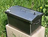 Коптильня 520х300х310 Крышка Домиком с термометром , фото 3