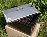 Коптильня 520х300х310 Крышка Домиком с термометром , фото 4