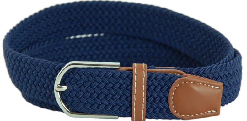 Надежный ремень TRAUM 8718-12, полиэстер, кожа PU 3,4х100 см. Цвет синий. Унисекс.