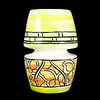 Ваза керамическая авторский дизайн ручная роспись Галетея зеленая 26см 10014