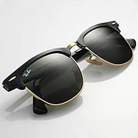 Очки RAY BAN RB 3016 Clubmaster ААА качество, комплект, стекло, солнцезащитные, копия