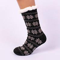 Мужские домашние полушерстяные тапочки-носки с антискользящей поверхностью.