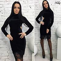 Женское стильное платье с открытой спиной ( 2 цвета)