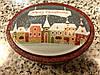 Баночка жестяная новогодняя для сыпучих (чая, кофе, трав, какао, специй) с крышкой, с рисунком и надписями