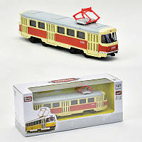 JT Трамвай металлопластик 6411 А (96/4) инерция, в коробке