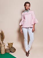Женская нарядная асимметричная блуза с воланами Atlantida (разные цвета)
