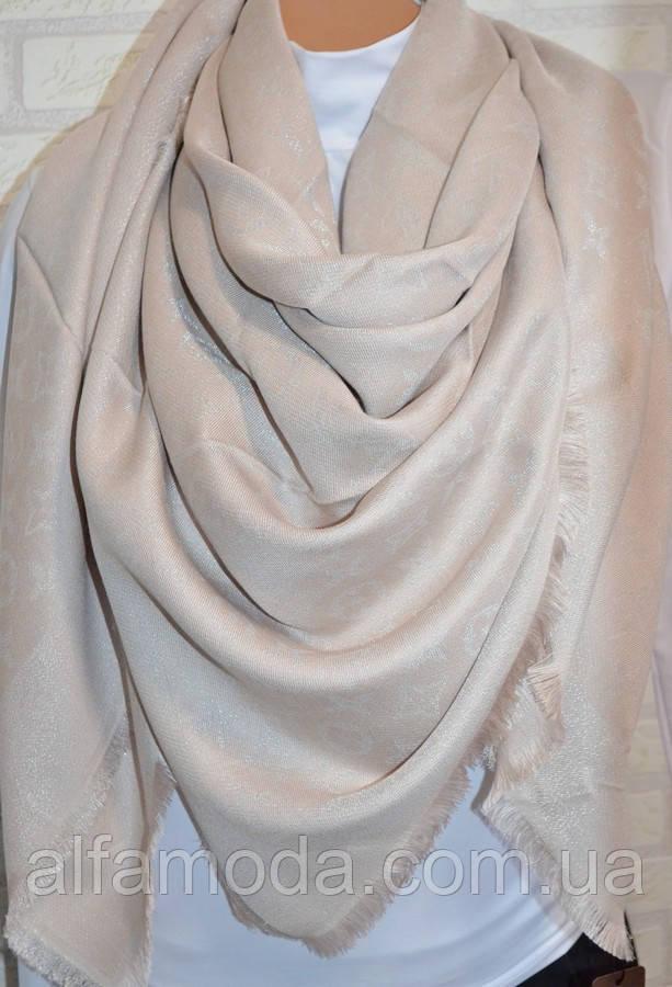 Платок шаль Louis Vuitton (Луи Витон) бежевый, цена 320 грн., купить ... 517ff637982