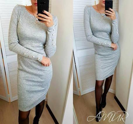 Сукня ангоровое сіре з гудзиками на рукавах Перріс, фото 2