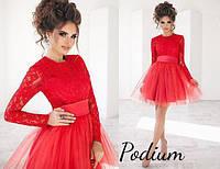 Красивое платье с юбкой из фатина в расцветках