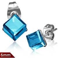 Серьги «Голубой кристалл»