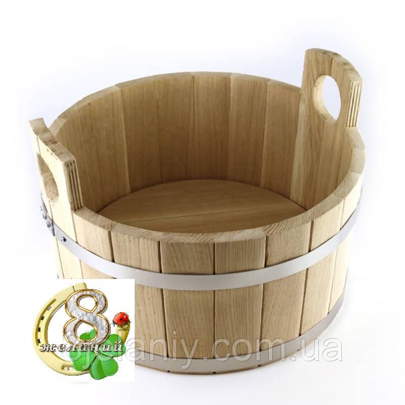 Шайка для бани дубовая 15 л