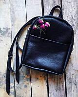 Чёрный рюкзак из натуральной кожи №21