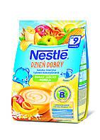 Nestle.Каша молочная рис,кукуруза, банан,яблоко,абрикос, 230 г (мягкая упаковка) с 9 мес (071805)
