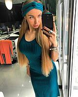 Женское красивое платье и чалма на голову (4 цвета)