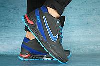 Мужские зимние кроссовки Nike Черный\Голубой 10412
