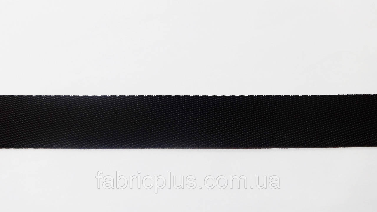 Лента ременная стропа 30 мм черная