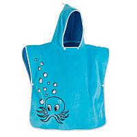 Пончо пляжное Octo Tribord для малышей, голубое