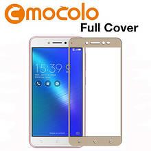 Защитное стекло Mocolo Full сover для Asus Zenfone 4 Selfie ZB553KL золотой