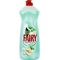 Fairy. Жидкость для мытья посуды Нежные руки чайное дерево и мята 1 л.