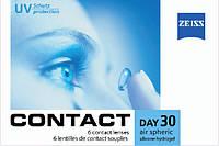 Линзы контактные(+подарок!) на 1 месяц Zeiss CD 30 Air