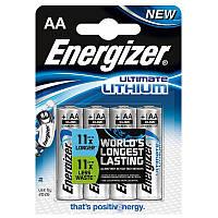 Набор 4 батарейки AA-LR06 Energizer литиевые
