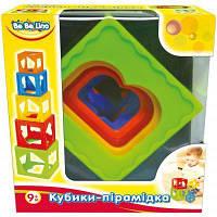 Развивающая игрушка BeBeLino Кубики-Пирамидка (57028)