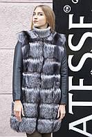 """Шуба меховое пальто из чернобурки """"Арабелла"""" silver fox fur coat jacket"""