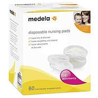 Medela. Одноразовые прокладки в бюстгальтер, 60 шт. (040457)