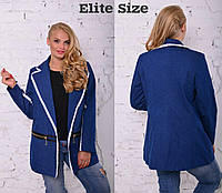 Женский джинсовый жакет больших размеров 50
