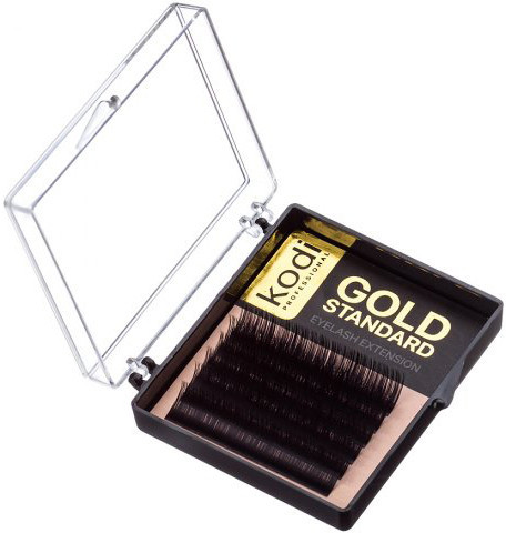 Ресницы для наращивания Kodi Professional Gold, C-0.12 (6 рядов: 12 мм.)