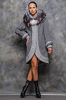 Пальто женское шикарное с мехом Терри, фото 1