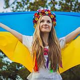 Флаг Украины большой 100 х 148 см, фото 3