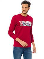 Мужской реглан LC Waikiki/ЛС Вайкики красного цвета с надписью Istanbul