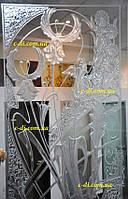 Рисунки по стеклу, гравировка по стеклу, фото 1