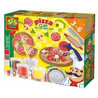 Ses. Незасыхающая масса для лепки Пицца (4 цвета, в пластиковых баночках, инструмент) (0445S)