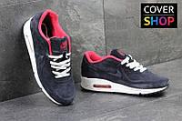 Мужские кроссовки Nike Air Max 87, темно-синие, материал - замша, подошва - пенка