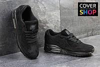Мужские кроссовки Nike Air Max 87, черные, материал - замша, подошва - пенка