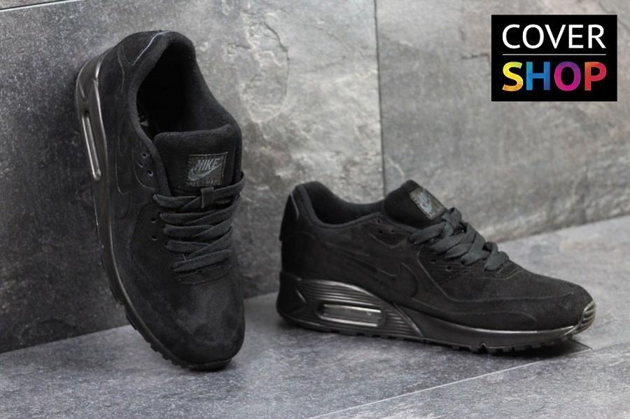ed6dbea3f892 Мужские кроссовки Nike Air Max 87, черные, материал - замша, подошва -  пенка 41