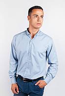 Мужская однотонная рубашка (Светло-серый) АРТ-208F008.5