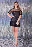 """Платье """"Шенон"""" (черный+серебро), фото 1"""