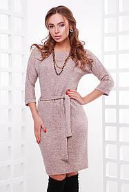 Модное платье из меланжевой ангоры