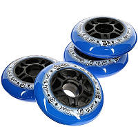 OXELO 80 mm 80A Wheels 4-Pack - Blue