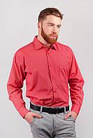Мужская рубашка в полоску красного цвета. АРТ-222F035.5