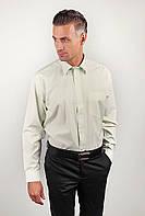 Светлая мужская рубашка классическая. (Светло-оливковый). АРТ-869-21.5