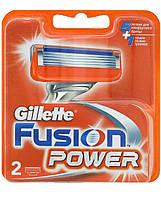 Gilette. Сменные картриджи для бритья Gillette Fusion Power (2 шт) (877560)