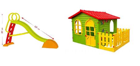 Детская площадка домик и горка Mochtoys, фото 2