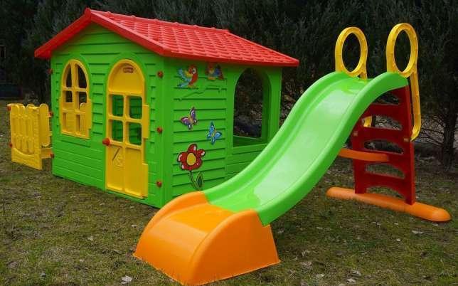 Детская площадка домик и горка Mochtoys