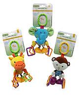 "Baby Team. Игрушка-подвеска вибрирующая ""Жираф/обезьянка/слон/лев"",  0+ (8541)"
